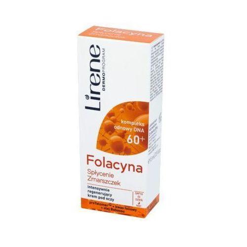 15ml folacyna 60+ spłycenie zmarszczek intensywnie regenerujący krem pod oczy Lirene