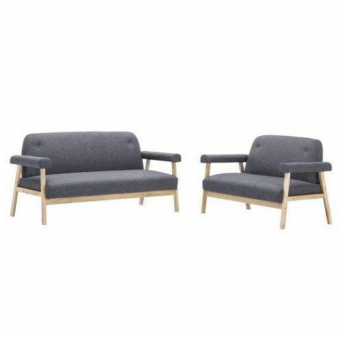 Zestaw wypoczynkowy vintage eureka 3x - popielaty marki Producent: elior