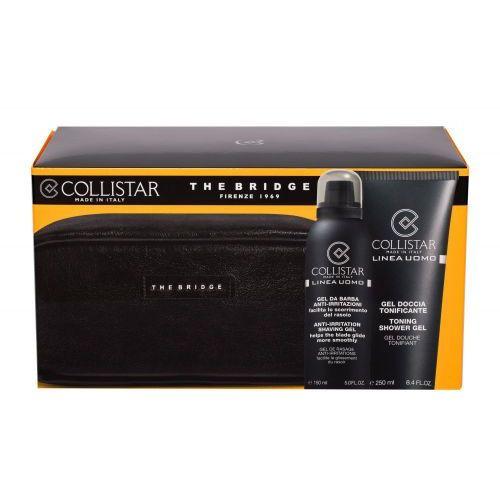 Collistar linea uomo zestaw żel pod prysznic 250 ml + żel do golenia 150 ml + kosmetyczka the bridge dla mężczyzn - Najlepsza oferta