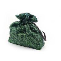 Torebka sakiewka z cekinami - zielona
