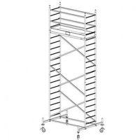 B2b partner Rusztowanie ruchome aluminiowe protec 6,3 m