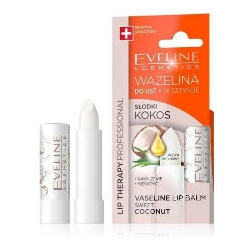 Eveline lip therapy wazelina do ust w sztyfcie nawilżająca słodki kokos 1szt Eveline kolorowka - Świetna oferta