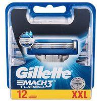 Gillette Mach3 Turbo wkład do maszynki 12 szt dla mężczyzn (7702018453306)