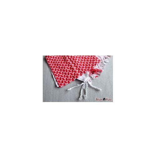 Mil-tec Shemagh (arafatka) biało-czerwona - 120 x 120 cm