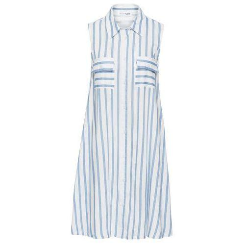 Sukienka biało-jasnoniebieski w paski, Bonprix, 36-46