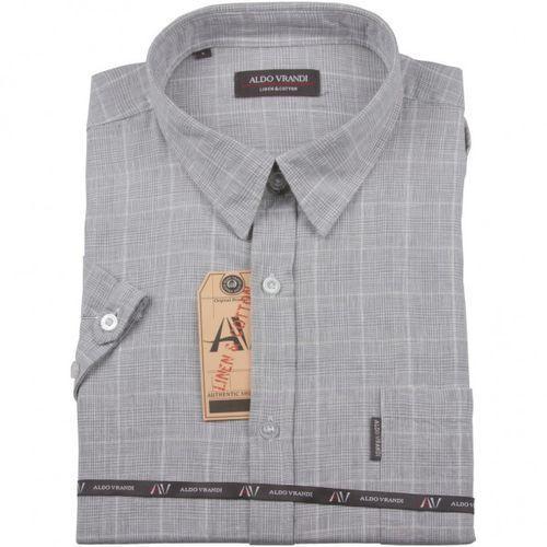 Koszula lniana Aldo Vrandi z krótkim rękawem, ALkr15-01
