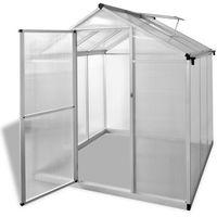 Vidaxl szklarnia ogrodowa ze wzmacnianą aluminiową ramą i podstawą 3,46 m2