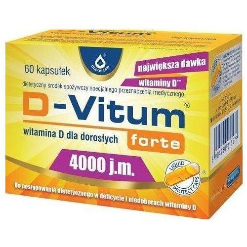 D-Vitum Forte 4000j.m., witamina D 60kapsułek