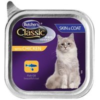 classic pro series skin&coat z kurczakiem - tacka 100g + gimcat - przysmak dla kota 60g gratis!!! marki Butcher's
