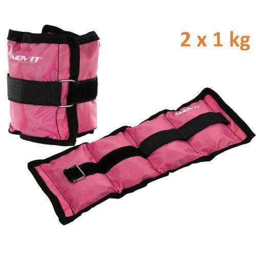 Obciążniki MOVIT na ręce i nogi do ćwiczeń 2 x 1 kg różowe