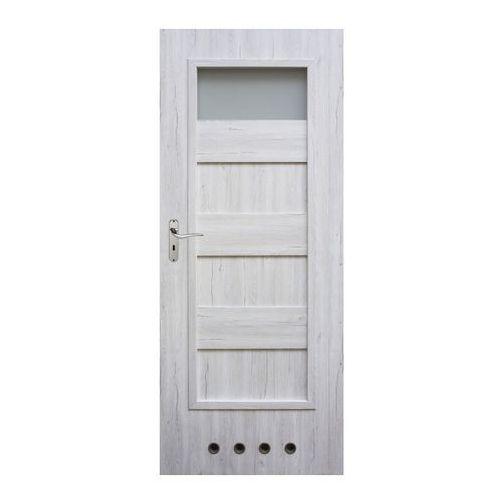 Drzwi z tulejami Winfloor Kastel 70 prawe silver