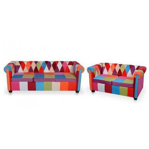 Edinos premium Komplet wypoczynkowy w stylu patchwork hollie