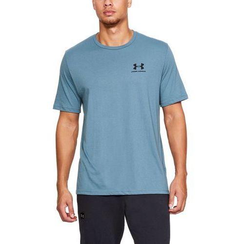 Under armour koszulka sportstyle left chest ss niebieska - niebieski