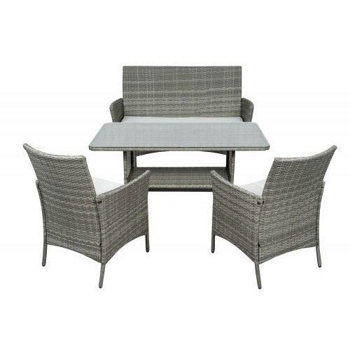 Meble Ogrodowe Rattan Fc 315 Popiel Sofa 2 Krzesła Dla 4 Osób Meblemwm
