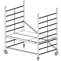 B2b partner Rusztowanie ruchome aluminiowe protec xxl 2,9 m