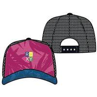 czapka z daszkiem ROXY - Surfed Out Beetroot Purple Texture Flower (XWMM) rozmiar: OS