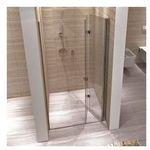 myspace n drzwi prysznicowe 80x190, profile chrom, szkło transparentne easyclean marki Rea