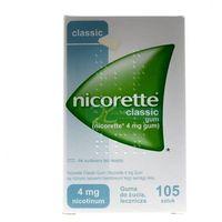 Nicorette Classic Gum guma do żucia lecz. 4 mg 105 szt. (5909997014739)