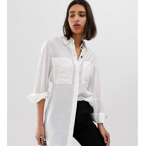 bb0ab33ec6 Zobacz ofertę Mango longline shirt with pockets in off white - white