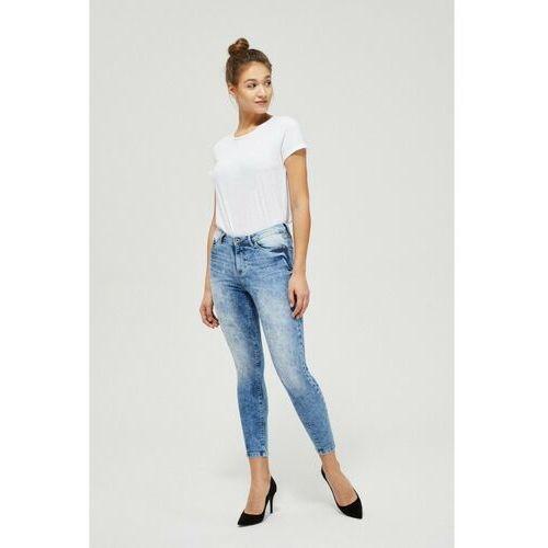 Spodnie jeansowe typu rurki 8L40A7, jeans
