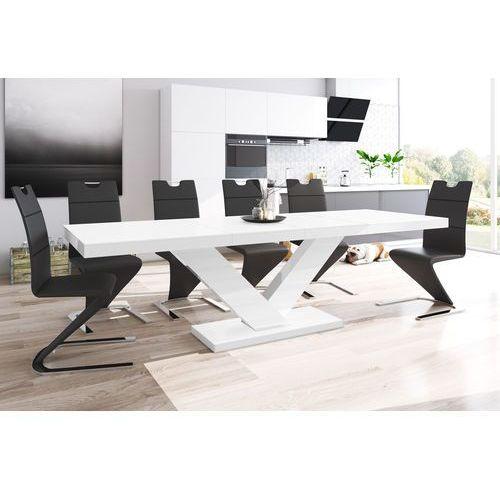 Stół Rozkładany Victoria Biały Super Mat Hubertus Design