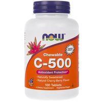 Now Foods Witamina C-500 (o smaku owoców leśnych) - 100 pastylek
