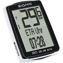 SIGMA SPORT BC 16.16 STS Licznik rowerowy kabellos czarny Liczniki rowerowe, 01618
