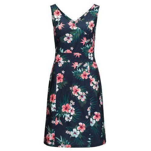 Sukienka WAHIA TROPICAL DRESS midnight blue all over - XS