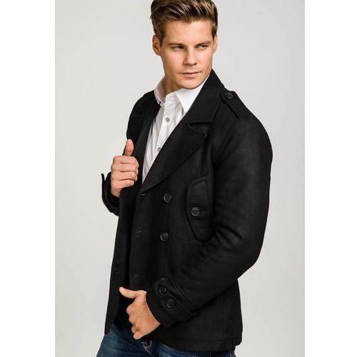 Płaszcz męski zimowy czarny Denley 3118 J.STYLE | Modisimo.pl
