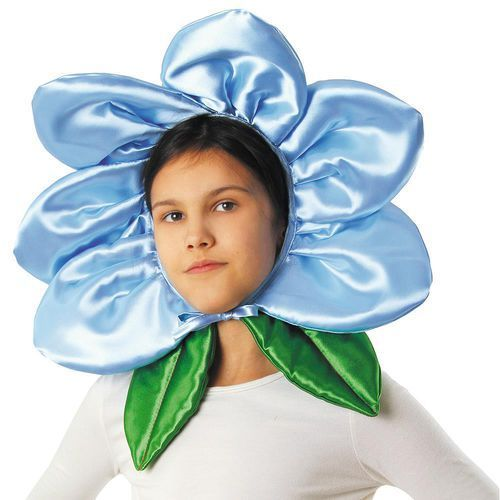 """Czapka """"Kwiatek"""" - błękitny, 1010013831"""