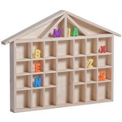 Drewniany domek na literki - kolekcjonerski
