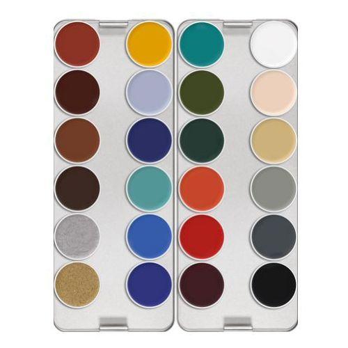 Kryolan  supracolor palette 24 colors (k) paleta 24 kolorów farby o konsystencji kremowej - k (1008)