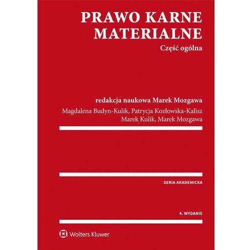 Prawo karne materialne Część ogólna - Dostawa 0 zł (2016)
