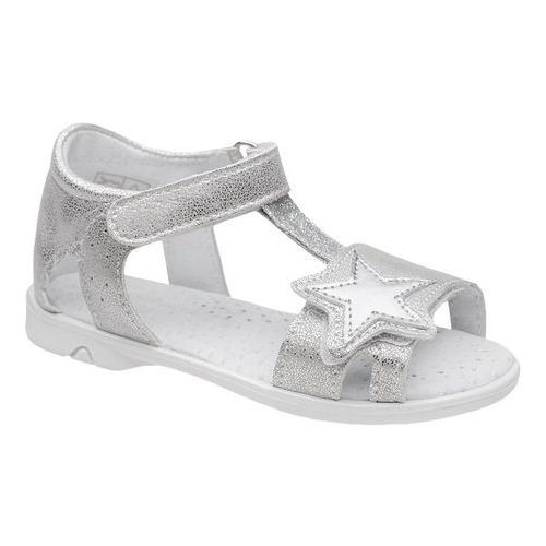 Sandałki dla dziewczynki KORNECKI 6304 Srebrne Brokat