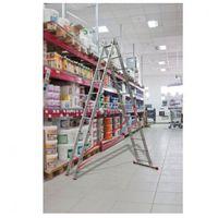 B2b partner Dwuczęściowa drabina aluminiowa wielofunkcyjna, 2x7 stopni, 3 m