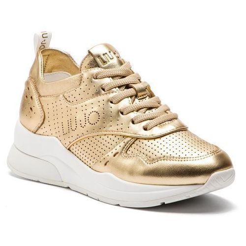 2166922421498 Sneakersy LIU JO - Karlie 14 B19009 P0291 Gold 00529, kolor żółty -  Fotografia Sneakersy