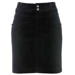 Bonprix Spódnica sztruksowa czarny