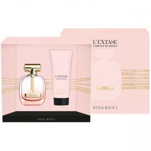 Nina Ricci L´Extase Caresse de Roses, Zestaw podarunkowy, woda perfumowana 80ml + mleczko do ciała 200ml