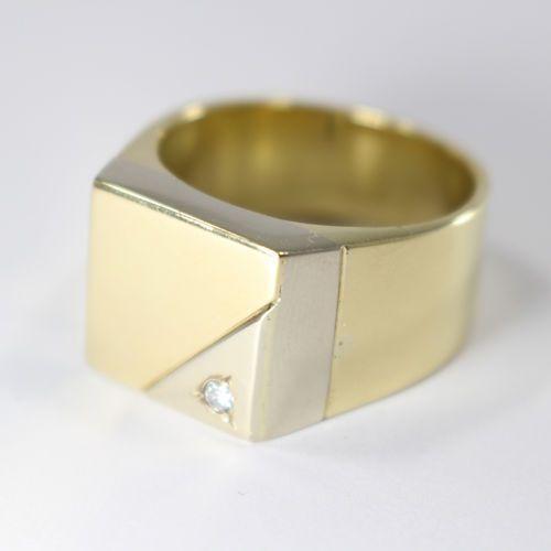 Złoty sygnet - P1174, kolor żółty