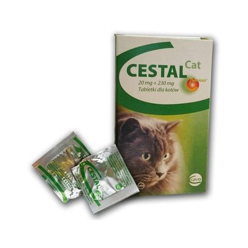 tabletki odrobaczające dla kota: opakowanie - 5 sztuk marki Cestal