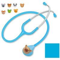 Stetoskop pediatryczny deluxe f606pf z nakładkami - błękitny marki Spirit