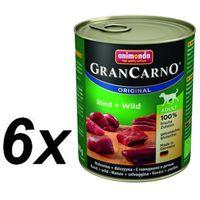 Animonda GranCarno Adult Rind Wild Wołowina + Dziczyzna 800g (4017721827454)