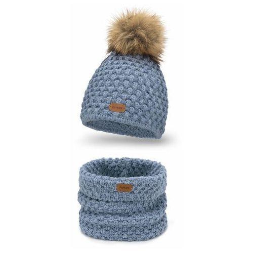 Komplet , czapka i komin - jeansowy marki Pamami