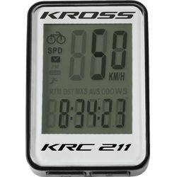 Przewodowy licznik rowerowy krc 211 11 fun biały t4cli000154bkwh marki Kross