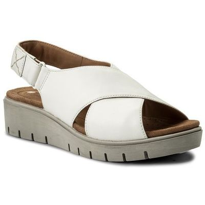98afb2bd1fb7 Sandały CLARKS - Un Kerely Hail 261322354 White Leather eobuwie.pl