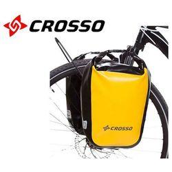 CO1010.30.87 Sakwy rowerowe Crosso DRY SMALL 30l Żółte zestaw na tył / przód, S0485