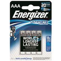 4 x bateria foto litowa Energizer L92 Ultimate Lithium R03 AAA