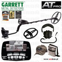 Wykrywacz metalu GARRETT AT PRO + słuchawki + osłona