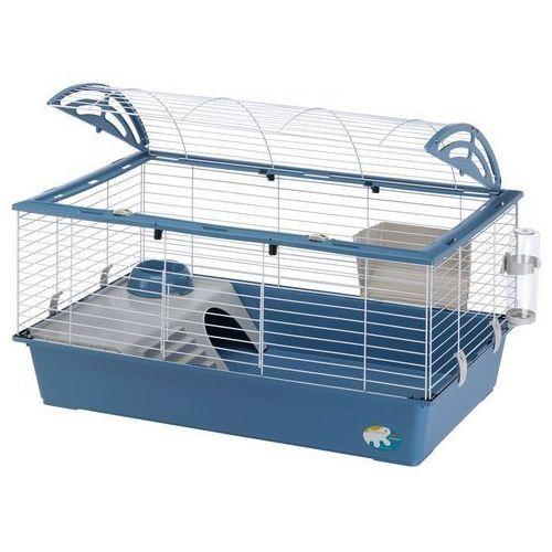 Ferplast casita 100 klatka dla małych zwierząt - niebieska, dł. x szer. x wys.: 96 x 57 x 56 cm