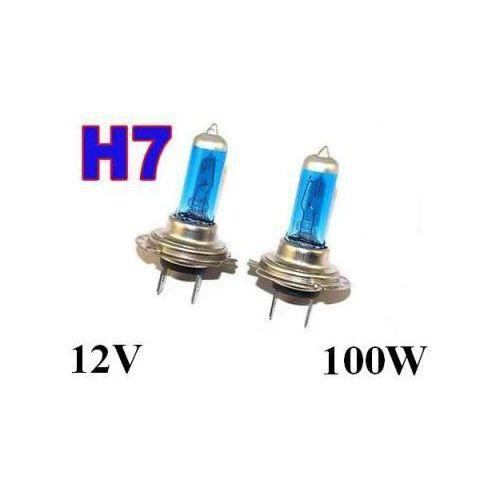 Żarówki (2szt.) samochodowe h7 (12v) xenon h.i.d. blue vision (moc 100w) - homologowane. marki Lumiko usa